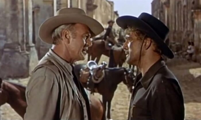 "Gary Cooper (L) and Burt Lancaster  in ""Vera Cruz."" (United Artists)"
