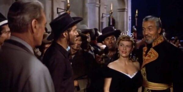Gary Cooper, Burt Lancaster, Denise Darcel, and Ceasar Romero
