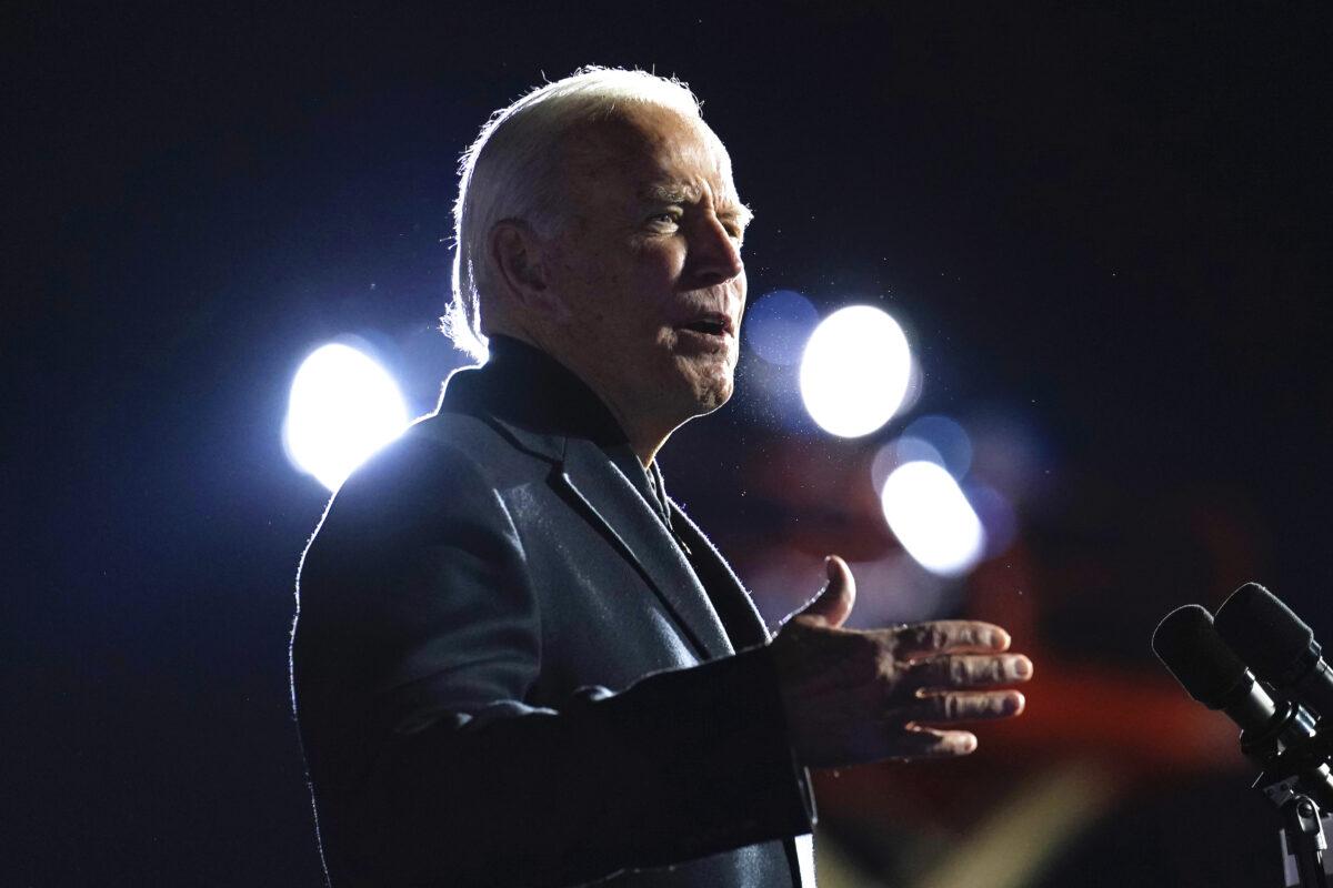 Biden speaks at rally