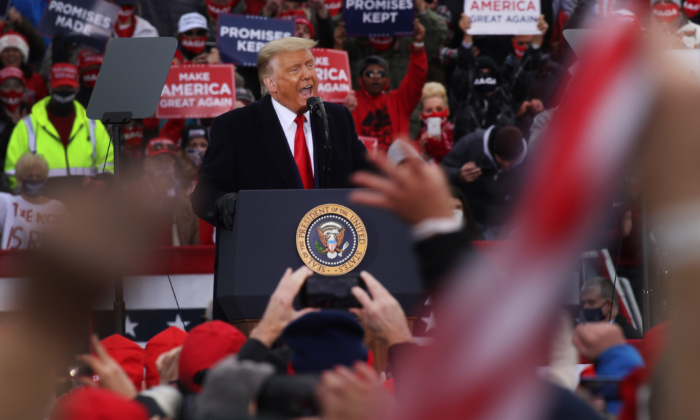 President Donald Trump speaks at a rally in Reading, Pa., on Oct. 31, 2020. (Spencer Platt/Getty Images)