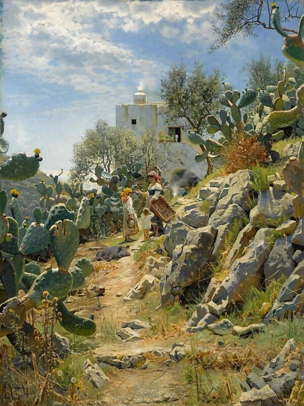 At Noon on a Cactus Plantation in Capri