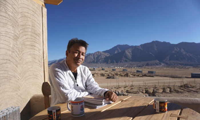 Sonam Wangchuk at the Himalayan Institute of Alternatives in Phyang valley in Ladakh, India, on Oct. 16, 2020. (Venus Upadhayaya/The Epoch Times)