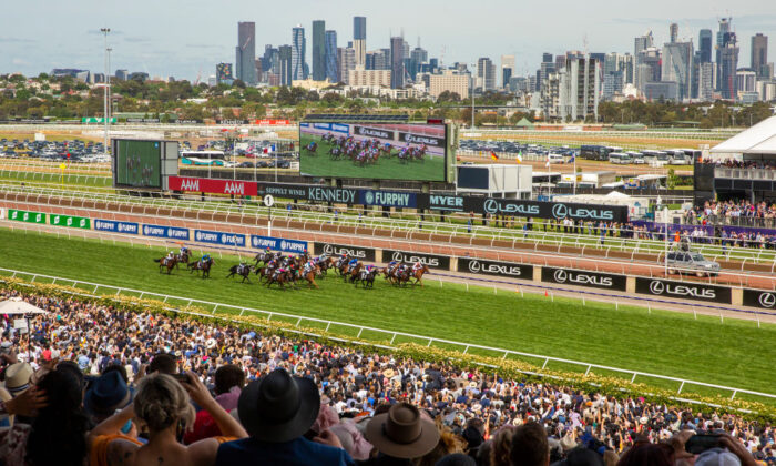 Craig Williams rides Vow and Declare to win race 7 the Lexus Melbourne Cup during 2019 Melbourne Cup Day at Flemington Racecourse on November 05, 2019 in Melbourne, Australia. (Jenny Evans/Getty Images)