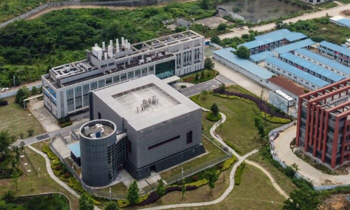 This aerial view shows the P4 laboratory (L) on the campus of the Wuhan Institute of Virology in Wuhan in China's central Hubei province on May 27, 2020. (Hector Retamal/AFP via Getty Images)