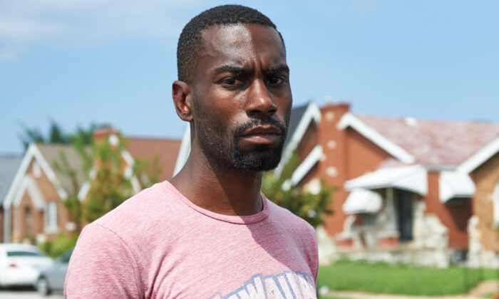 Deray Mckesson, a Black Lives Matter leader, in St. Louis on Aug. 7, 2015. (Michael B. Thomas/AFP via Getty Images)