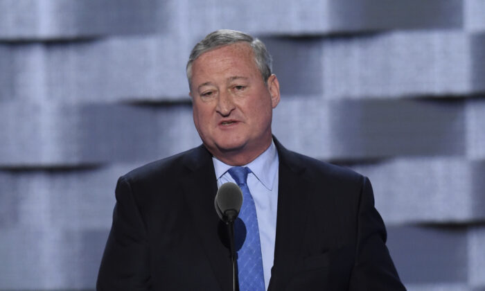 Jim Kenney, Mayor of Philadelphia, speaks at an event in Philadelphia, Penn., on July 25, 2016. (SAUL LOEB/AFP via Getty Images)