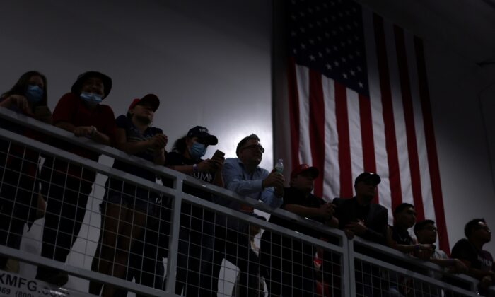 Supporters gather for a rally with President Donald Trump in Henderson, Nev., on Sept. 13, 2020. (Jonathan Ernst/Reuters)
