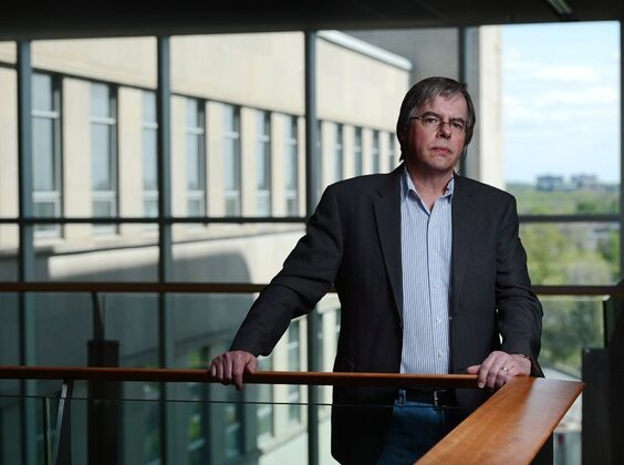 Security intelligence expert Wesley Wark poses at the University of Ottawa's Social Sciences Building in Ottawa on May 14, 2013. (Sean Kilpatrick/ The Canadian Press)