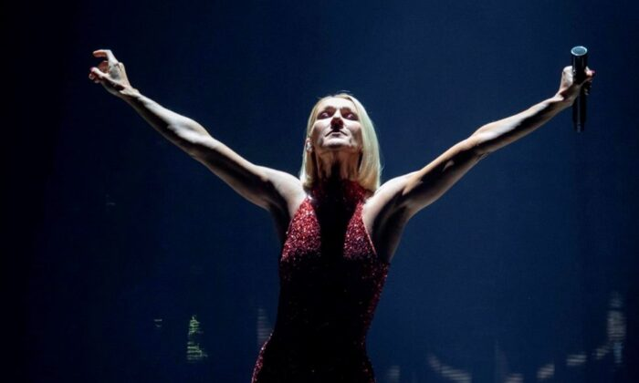 Singer Celine Dion performs during her first World Tour show called Courage at the Videotron Centre on Sept. 18, 2019, in Quebec City. (The Canadian Press/Jacques Boissinot)