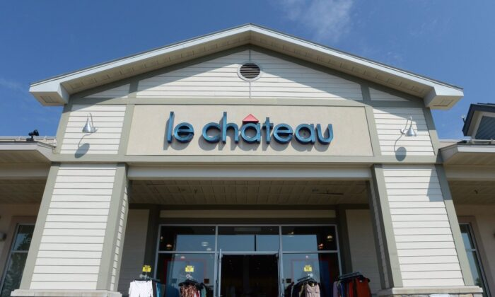 A Le Château retail store is shown in Montreal, on July 13, 2016. (Ryan Remiorz//The Canadian Press)