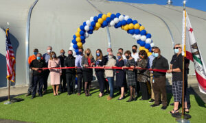 Officials Cut Ribbon for New Homeless Shelter in Huntington Beach