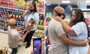 Man Proposes to High School Sweetheart at a Busy Store After 35 Years: Video