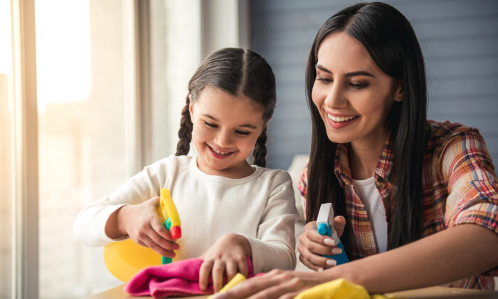 Have the kids help out with chores. These are things they will eventually have to learn to do on their own. (VGstockstudio/Shutterstock)