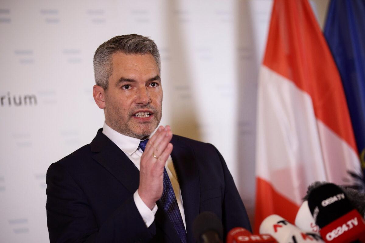 Austria's Interior Minister Karl Nehammer