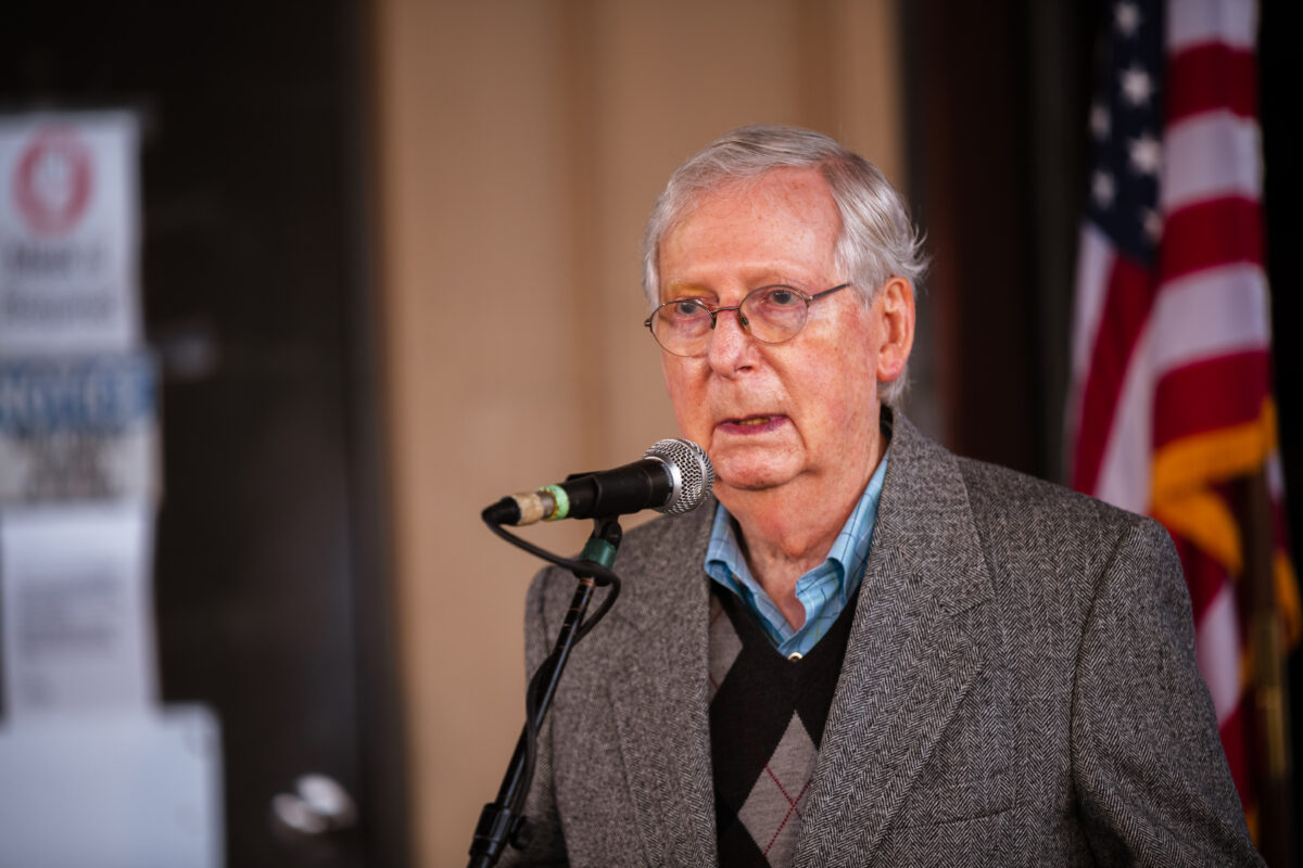 Senator McConnell Campaigns For Re-Election In Kentucky