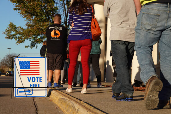 Across The U.S. Voters Flock To The Polls On Election Day