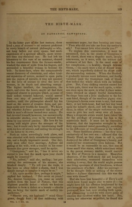 The_Birth-Mark_in_The_Pioneer,_March_1843