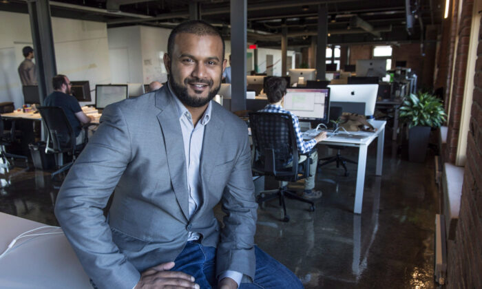 Dax Dasilva, CEO of Lightspeed, is seen in his office on September 15, 2015 in Montreal. (The Canadian Press/Paul Chiasson)