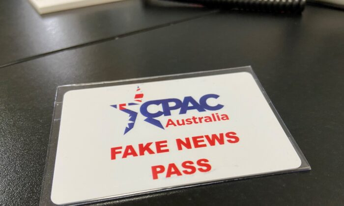 Media passes for the Conservative Political Action Conference (CPAC) on Nov. 4, in Sydney, Australia (The Epoch Times).