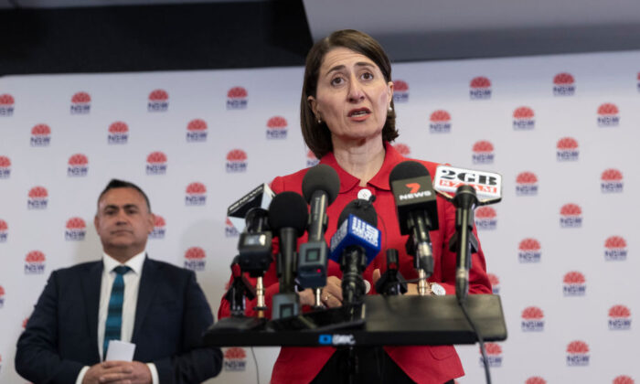 NSW Premier Gladys Berejiklian at a press conference in Sydney, Australia on Nov. 4, 2020. (Brook Mitchell/Getty Images)