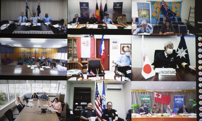 Security leaders from 24 nations and territories and five regional bodies attended the Joint Heads of Pacific Security event 2020. A virtual meeting enabled the collaboration focused on regional security. (Jay Cronan via ADF)