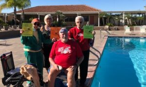 Swimming 100 Miles for the American Legion