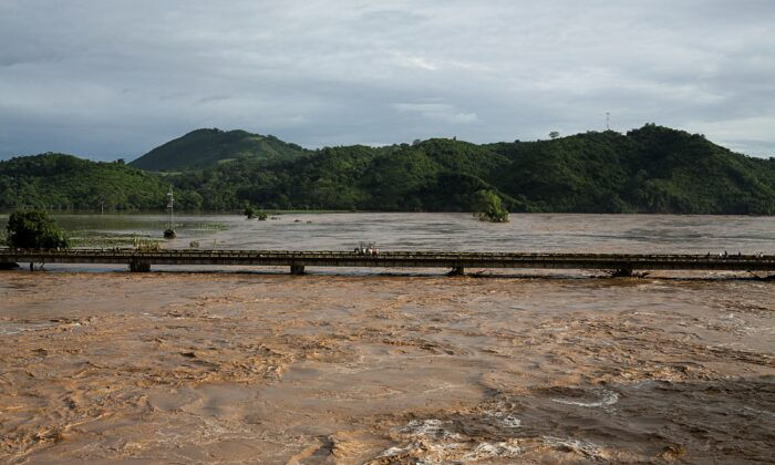 A general view shows the Chamelecon river after the passage of Storm Eta, in Pimienta, Honduras Nov. 6, 2020. (Jorge Cabrera/Reuters)