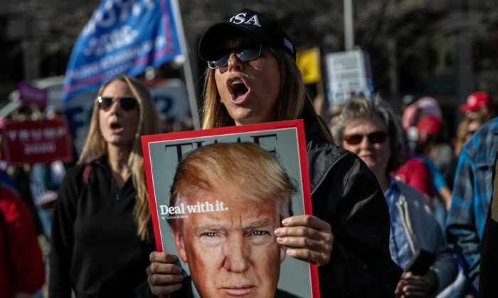 President Donald Trump supporters gather for a demonstration outside the TCF Center in Detroit, Mich., on Nov. 6, 2020. (John Moore/Getty Images)