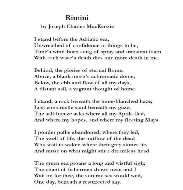 Rimini-poem