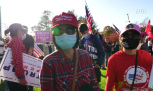 Trump Supporters Protest in Lexington, Massachusetts