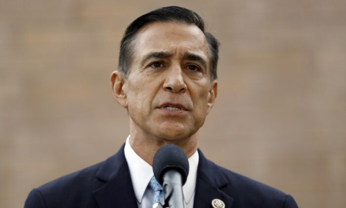 Former Republican congressman Darrell Issa speaks during a news conference in El Cajon, Calif., on Sept. 26, 2019. (Gregory Bull/AP Photo)