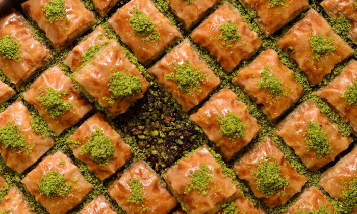 Baklava has found a home in multiple cultures. In Gaziantep, Turkey, the pastry is made with the region's most famous product: pistachios. (Halit Omer/Shutterstock)
