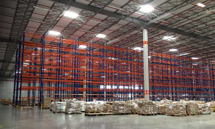 A general view of Logistics operator Luft warehouse to be used by Amazon.com Inc in Cajamar II, Brazil, on Feb. 2, 2018. (Gabriela Mello/Reuters)
