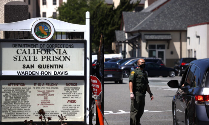 A file photo of San Quentin State Prison in San Quentin, Calif., on June 29, 2020. (Justin Sullivan/Getty Images)