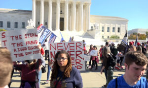 Rally in Front of the US Supreme Court: 'Stop the Steal' of the Election