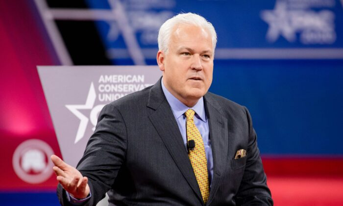 Matt Schlapp, Chairman of the American Conservative Union, during the Conservative Political Action Conference 2020 in National Harbor, Md., on Feb. 28, 2020. (Samuel Corum/Getty Images)