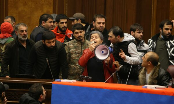 People storm the parliament