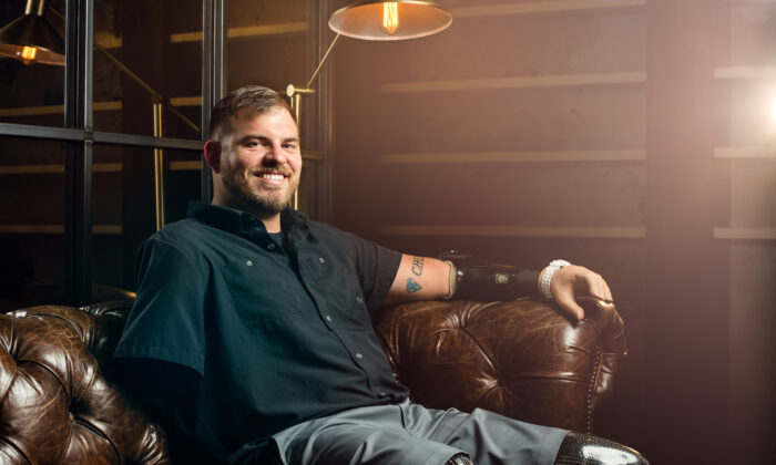Retired United States Army Staff Sgt. Travis Mills of the 82nd Airborne is an advocate for veterans and amputees, as well as a motivational speaker, actor, and author. (Courtesy of Travis Mills Foundation)
