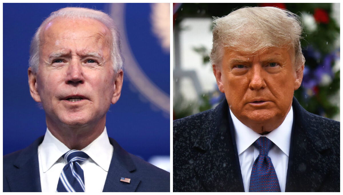 Biden and Trump collage