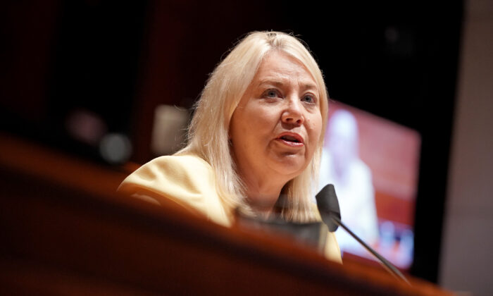 Rep. Debbie Lesko (R-Ariz.) questions witnessses at a House Judiciary Committee hearing in Washington on June 10, 2020. (Greg Nash-Pool/Getty Images)
