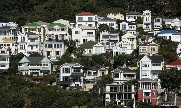 A general view of houses in Oriental Bay on April 9, 2016 in Wellington, New Zealand. (Hagen Hopkins/Getty Images)