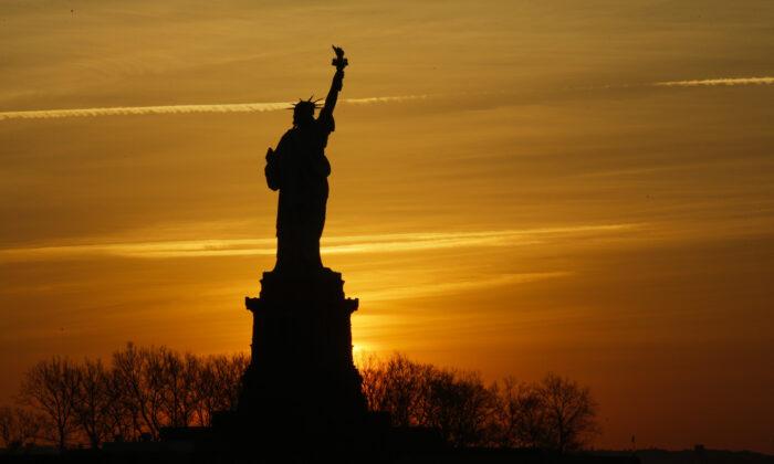 The Statue of Liberty in New York City on Jan. 21, 2018. (Eduardo Munoz Alvarez/Getty Images)