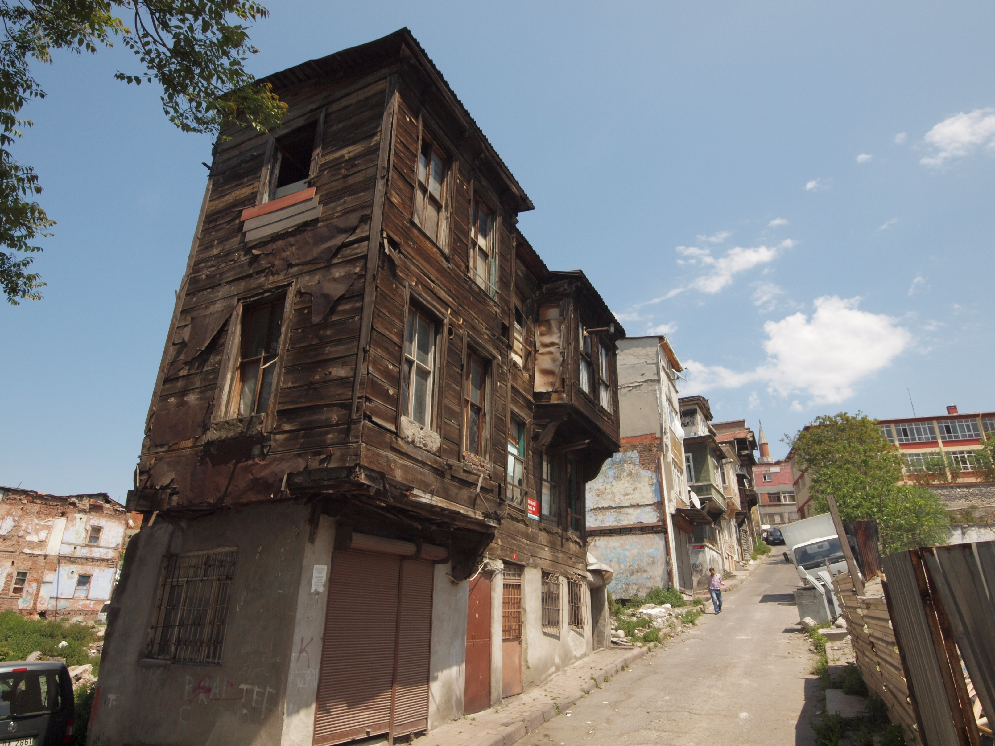 Old wooden Ottoman houses