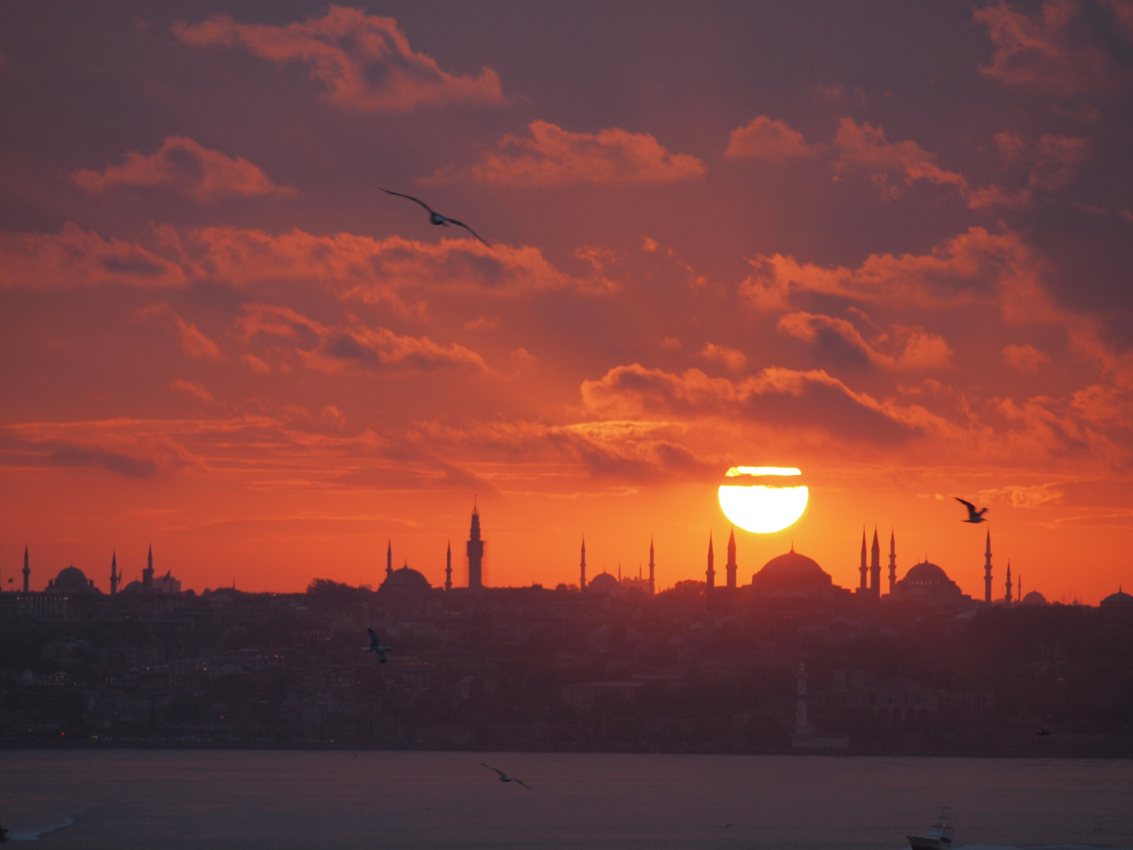 Sunset over Old Istanbul