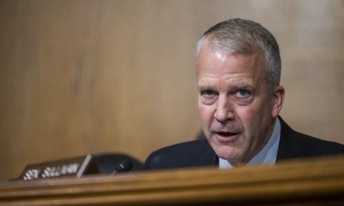Sen. Dan Sullivan (R-Alaska) speaks in Washington on Sept. 11, 2019. (Zach Gibson/Getty Images)
