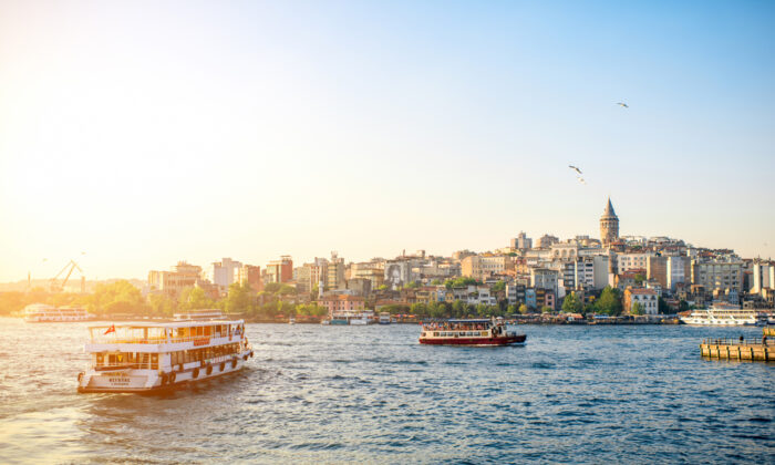 Ferries connect the European side to the Asian side. (RossHelen/Shutterstock)