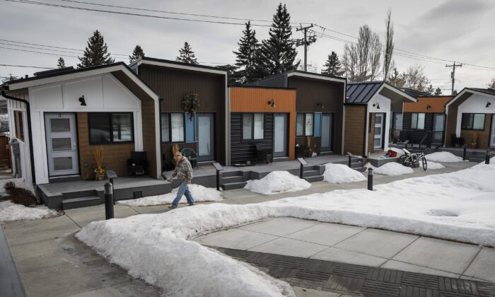 The ATCO Village Homes for Heroes in Calgary, Alta., on Jan. 29, 2020. (Jeff McIntosh/The Canadian Press)