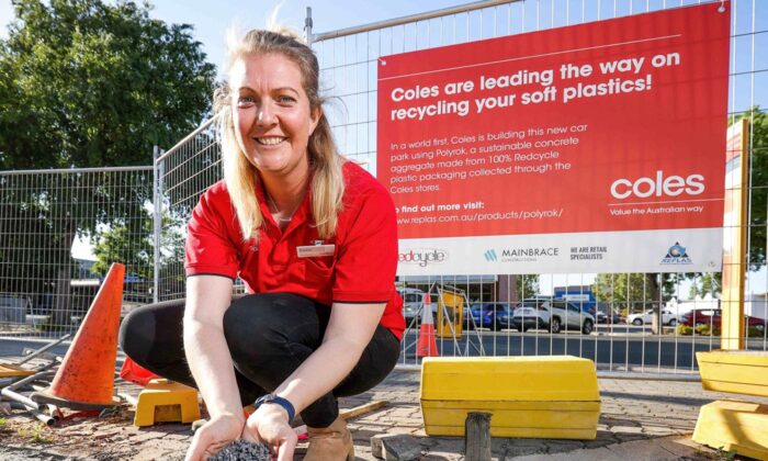Coles cements Australian-first soft plastics recycling technology. (Supplied)