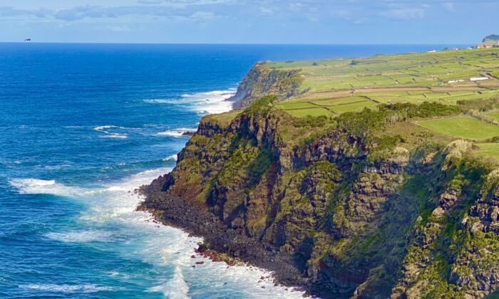 The rugged cliffs on the north shore of Terceira. (Tim Johnson)