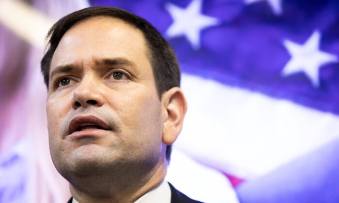 Sen. Marco Rubio (R-Fla.) speaks during a campaign event in Marietta, Ga., on Nov. 11, 2020. (Jessica McGowan/Getty Images)